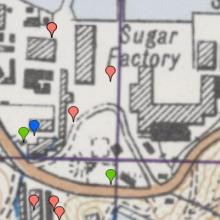 1952 map of Sugar Refinery