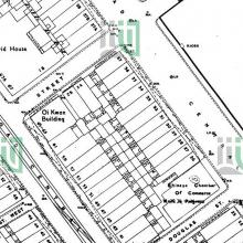 1960 map of block bounded by DVRC / Potttinger St / Connaught Rd / Douglas St.jpg
