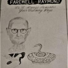 Invitation card for the farewell party on the retirement of Raymond Smith
