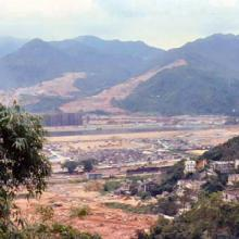 1979 - view from Temple of 10,000 Buddhas, Shatin