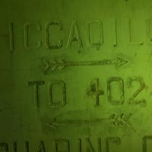 Piccadilly and Charing Cross tunnel signs at Shing Mun Redoubt