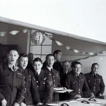 Officers Serving meal