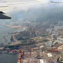 1982 - take off to the west from Kai Tak Airport