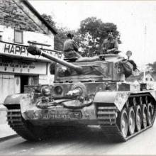 Comet Tank in Kam Tin. 1959