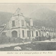 Another View of a Damaged Godown at West Point