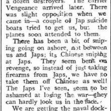 Hong Kong Liberation - Bo'ness Journal and Linlithgow Advertiser 1945 September 28th clipping.png