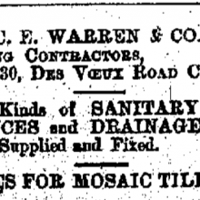 C.E. Warren & Co. Hong Kong Daily Press page 1 24th September 1902.png