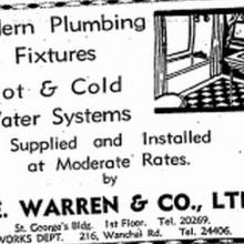1937 C. E. Warren & Co. Ltd  Advertisement