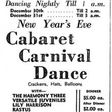 CHANTECLER Restaurant-Pre-war activities-29-12-1939