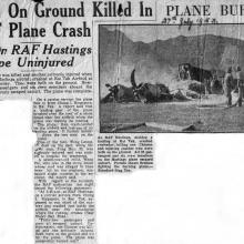 Crash cutting South China Morning Post 27 July 1953.