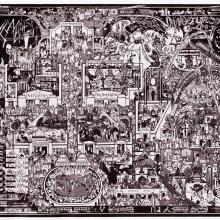 Illustrated Map of the British Empire Exhibition - London  1924