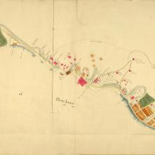 1842 Map of Initial Land Sales in the Colony