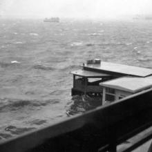 Fenwick Street pier in typhoon Ida.