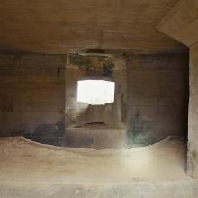 Japanese Pillbox Interior with the swiveling platform - Pak Fu Shan