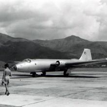 First Canberra in HK Air Marshal Sir Dermot Boyle.