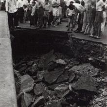 Glouceter Road typhoon damage 9 June 1960.