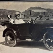 Grandmother and dog in car.jpg