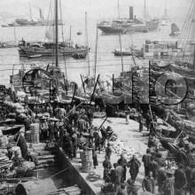 """c.1900 """"Looking northeast over the Bay, from the New Market"""""""