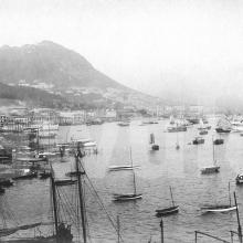 Wanchai's seafront in 1902