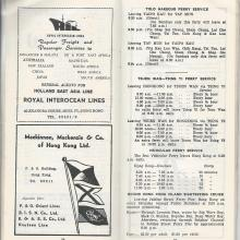 FERRY TIMETABLES 1961