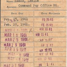 US LIBRARY ticket