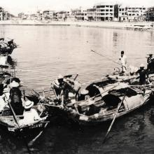 Sampans off Kowloon City