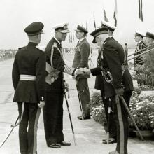 HRH Duke of Edinburgh arriving at Kai Tak 7th March 1959