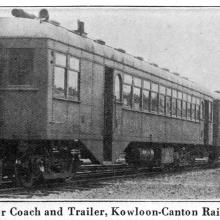 Hall-Scott- Motor Coach with Trailer