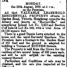 Harperville Hong Kong Daily Press page 1 20th August 1889.png
