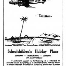 Braathens-Schoolchildren's holiday plane-SCMP 8 Jan 1948