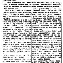Hong Kong-Harrison Forman speaks to the nation-HK Daily Press-19-08-1941