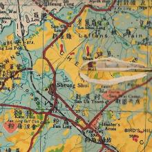Land border crossing-map segment-circa 1936