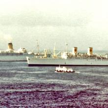 P&O liner on its way for scrapping-Orient Overseas liner-which one?-1970s
