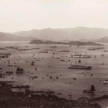 Hong_Kong,_Entrance_to_the_port_by_Lai_Afong_c1890s.