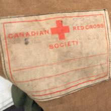 Red Cross parcel wrapping from Stanley Camp