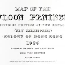 Title for 1920 Kowloon map