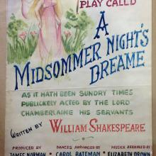 "Poster for ""Midsommer nights dream"""