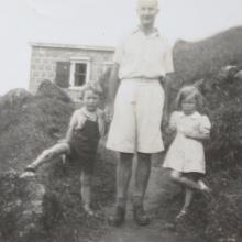 My father, myself and Shirley Stopani-Thomson
