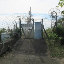 Fenced-off aerials on top of redoubt