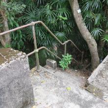 Staircase down to caponier