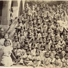 Inhabitants of the Berlin Mission orphanage