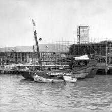 Island Star Ferry pier under construction.