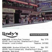 Lindy's Restaurant Advert 1980