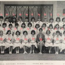 Maryknoll Sisters School, form 3A, 1963-64