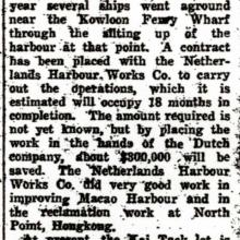 Netherlands Harbour Works Co newsclip 1 June 1927