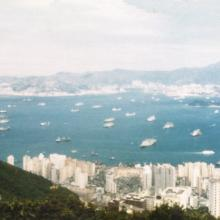 Panorama of HK from Lugard Road Oct 1981.jpg