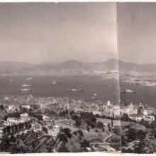 1950s panorama over central to harbour
