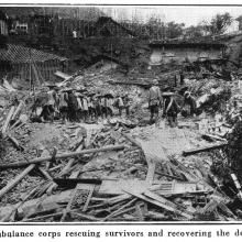 Po Hing Fong Landslip Disaster -1925 - Recovery of injured and dead