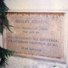 Queen's College Foundation Stone (Current Location)
