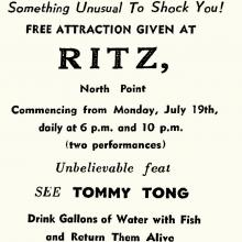 RITZ-Free Attraction-Tommy Tong and his amazing fish act
